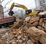 Вывоз строительного мусора в Рузе